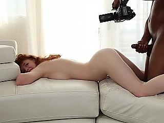 Hunting her tight pussy with fat black dick