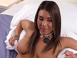 Impressive Latina slut smiling for the cam