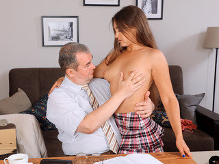 Schoolteacher gives luxurious student  hookup lesson