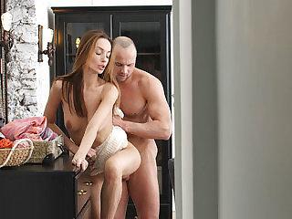 Sweet lovemaking and internal cumshot