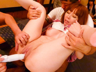 Minami Kitagawa's taut rosy cooch rammed with a rubber dildo