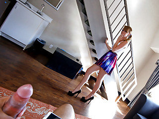Wonderful nubile nanny Iggy Amore gets her cock-squeezing snatch plumbed